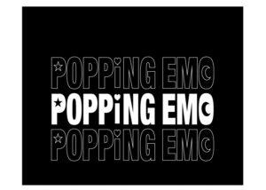 POPPiNG EMO サコッシュ正面プリント(ブラック)